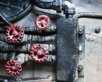 industriellt mekaniskt för bakgrundsgrunge Arkivbilder
