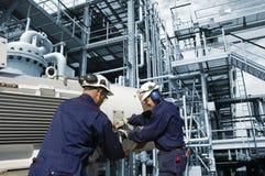 industriellt oljearbete Royaltyfri Fotografi