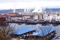 industriellt område Royaltyfri Fotografi