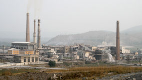 industriellt område Royaltyfria Foton