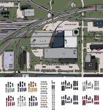 Industriellt område vektor illustrationer
