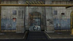industriellt område 3d framför Arkivbilder