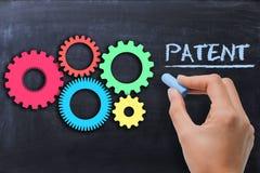 Industriellt patenterat begrepp Royaltyfria Foton