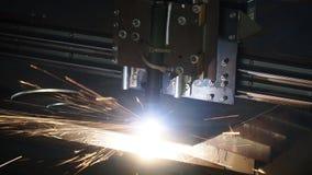 Industriellt plasmamaskinklipp av metallplattan gem Bitande klipp för gas för metallplattor Klipp för stålplatta vid gas Royaltyfri Bild