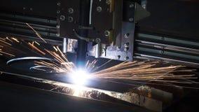 Industriellt plasmamaskinklipp av metallplattan gem Bitande klipp för gas för metallplattor Klipp för stålplatta vid gas Royaltyfria Bilder