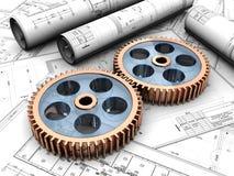 Industriellt projekt stock illustrationer