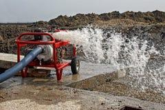 industriellt pumpvatten Arkivfoto