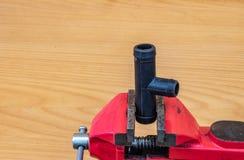 Industriellt rörledningkontaktdon för utslagsplats fotografering för bildbyråer