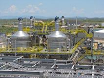 Industriellt raffinaderi arkivbild