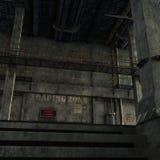 Industriellt rum med trappa till den tekniska avdelningen Royaltyfri Fotografi