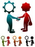 Industriellt samarbete vektor illustrationer