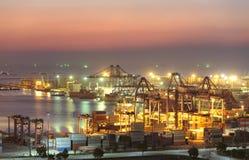 Industriellt skepp för behållarelastfrakter Fotografering för Bildbyråer