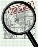 Industriellt spionage royaltyfri illustrationer