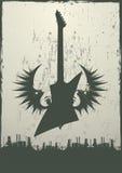 industriellt tema för gitarr Arkivfoto