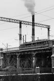 industriellt utformat retro för landmark arkivfoton