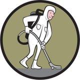 Industriellt vakuum för rengöringsmedelCleanroomdräkt royaltyfri illustrationer