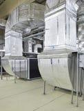 Industriellt ventilationssystem Fotografering för Bildbyråer