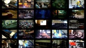 Industriemultischirmfertigung stock video