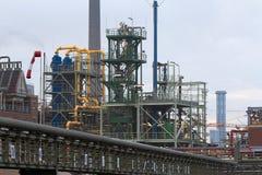 Industriepark Griesheim (Frankfurt am Main). Frankfurt, Germany - August 15, 2015: Industrial and chemical plant of Griesheim district of Frankfurt am Main Stock Photography