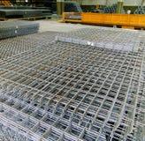 Industrierasterfeld des Stahls Stockfotografie