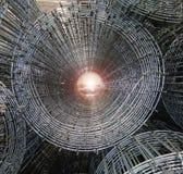 Industrierasterfeld des Stahls Stockfoto