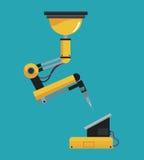 Industrieroboterarm mechanisch lizenzfreie abbildung