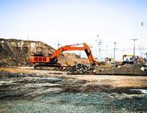 Industries de grue, de construction et de port Images stock