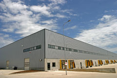 Industries hall. A industries hall on the loading/unloading sight stock photo