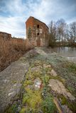 Industries of the middle ages. Water-mills mills of river medieval aruinadas in Zamora stock photo
