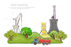 Industries and nature, concept background Royalty Free Stock Photo