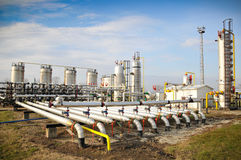 Industries of oil refining and gas Royalty Free Stock Image