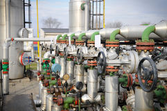 Industries of oil refining and gas. Collector Royalty Free Stock Photos