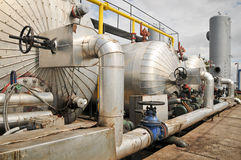 Industries of oil refining and gas Stock Images