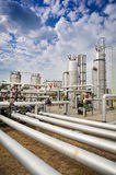 Industries of oil refining and gas. Collector Royalty Free Stock Photography