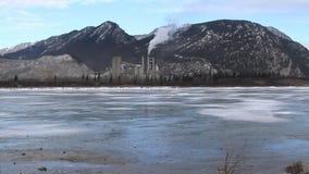 Industriest. Banff Kanada stock footage