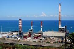 Industrieterrein in Sicilië royalty-vrije stock afbeeldingen