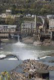 industriflodsida royaltyfri foto