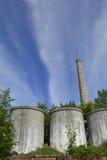 Industriële Gebouwen in Cividale Stock Afbeeldingen