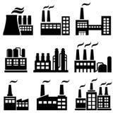 Industriële gebouwen, fabrieken, elektrische centrales Royalty-vrije Stock Foto