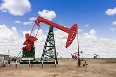 industrioljepump russia Arkivfoton
