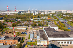 Industriområde Arkivbild