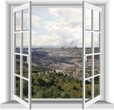 Industriområde av lignitminen Arkivfoto