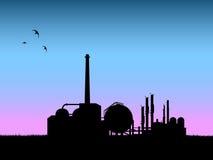 industrisilhouettevektor Arkivbilder