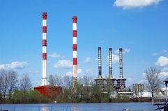 Industry. Near water-dangerous for nature royalty free stock photography