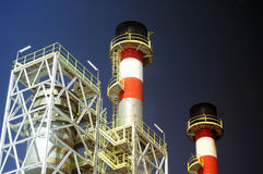 Industry. At day on a blue sky background Stock Images