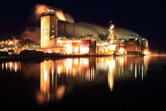 Industry. Swedish industry photographed at night Royalty Free Stock Photo
