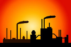 Industry. Heavy industry polluting the environment Stock Images