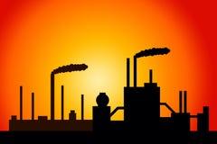 Industry. Heavy industry polluting the environment vector illustration