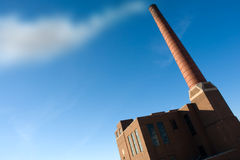 Industry. Old industrial factory with smokestack and sky Royalty Free Stock Images
