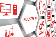 Free INDUSTRY 4.0 Concept Cell Background Stock Images - 126290224